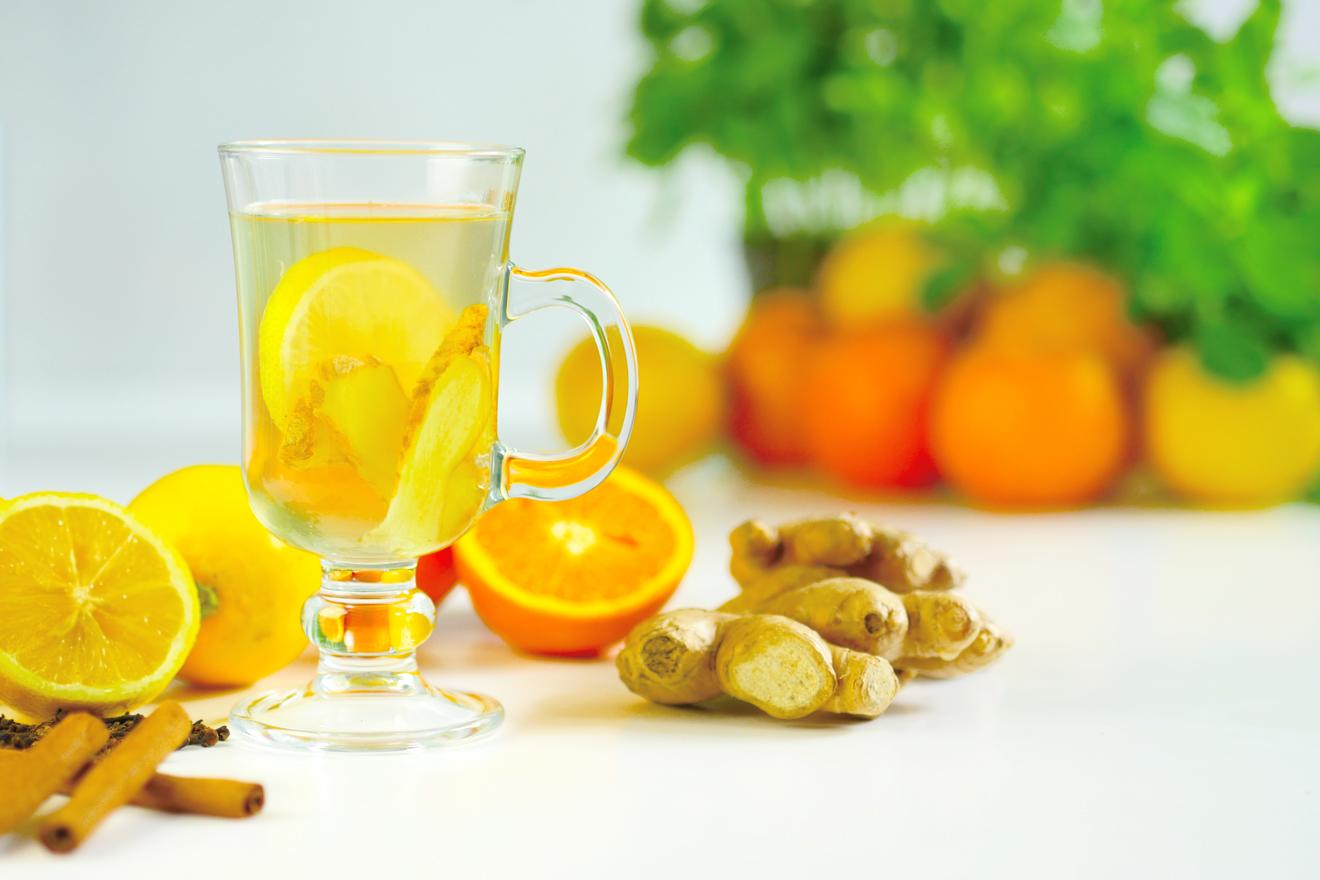 gember en citroen om af te vallen
